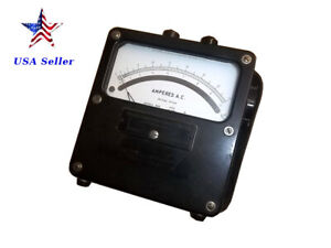 Weston Electrical Instruments model 433 162265 25 500 Cycles amperes A c Meter