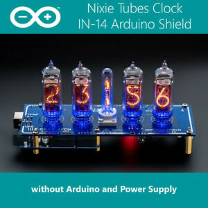 In 14 Arduino Shield Ncs314 4 Nixie Tubes Clock without Arduino Power Supply