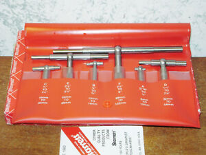 6 Pc Starrett Telescope Gage Set No S579h 5 16 To 6 Inches Lot1a