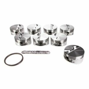 Je Pistons 242886 350 400 Standard Flat Top Pistons Forged 4 125 Inch Bore New