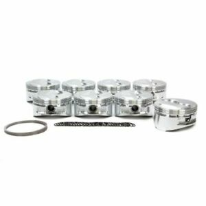Je Pistons 182036 350 400 Small Block Dome Top Pistons Forged 4 155 Inch Bore