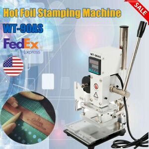 80 100mm Manual Digital Hot Foil Stamping Machine Pvc Card Leather Bronzing 300w