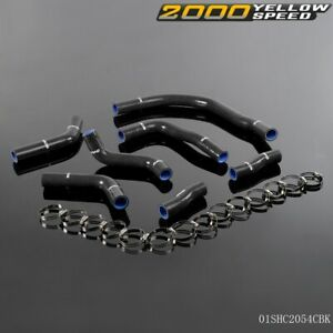 For Toyota Sw20 Mr2 1990 1995 Silicone Radiator Coolant Hose Clamps Kit Black