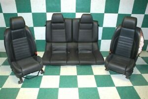 14 Mustang Coupe Black Leather Power Driver Backseat Set Hot Rod Buckets Tracks
