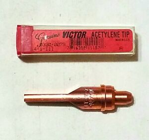 New Victor 4 1 111 Acetylene Cutting Torch Tip Straight Line Circle 0330 0079
