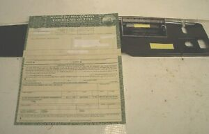 1964 Ford Falcon Convertible Historical Document W Vin Tag Vin Stamping