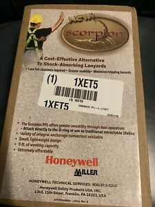New 7 2019 Scorpion Miller Honeywell Personal Fall Limiter 9 Ft 310 Lb 1xet5