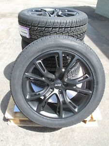 20 New Jeep Grand Cherokee Srt8 Style 20x9 Satin Black Rims 9113 Tires Set 4 J