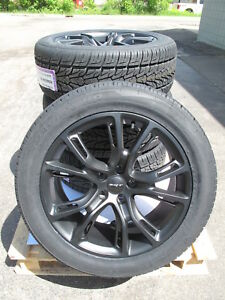 20 New Jeep Grand Cherokee Srt8 Style 20x9 Satin Black Rims 9113 Tires Set 4 S