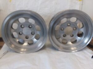 2 Vintage Rare Cragar Aluminum 8 Hole Slot Mag Wheels 14x6 Not Ansen Us Indy