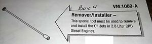 2005 06 Jeep Liberty 2 8l Diesel Engine Piston Cooling Jet Remove install 1060a