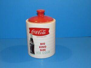 Coke Coca Cola Cookie Jar BIG KING SIZE ICE COLD GIBSON POTTERY Crock style