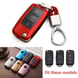 For Vw Jetta Golf6 Passat B7 Scirocco Red Key Fob Chain Accessories Cover Case