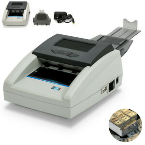 Money Bill Counter Counting Machine Counterfeit Detector Uv mg ir Us Cash Bank