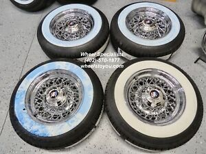 Buick Super Roadmaster 15 Chrome Wire Spoke Wheels Whitewall Tire Set 4 New