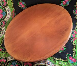 24 Lazy Susan By Cushman Rare Colonial Maple 5245 Rotating Table Mcm 1950 S