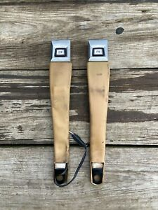 1984 1987 Jeep Cherokee Xj Comanche Mj Tan Amc Bucket Style Seat Belt Buckles