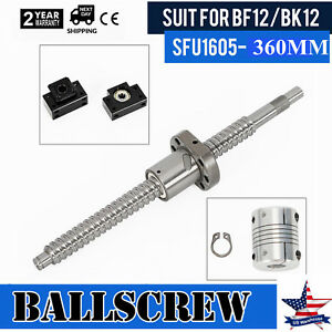 L360mm Cnc Ball Screw Sfu1605 C7 Bk bf12 End Support 6 35 10mm Coupling Kit