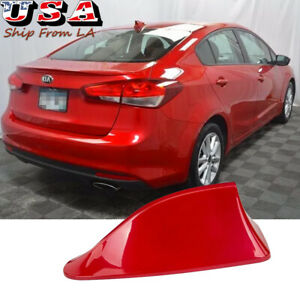 Glossy Red Roof Top Aerial Shark Fin Radio Antenna Cover Fm Am Signal Universal