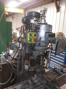 Bridgeport Ez Trak Ii 2hp Milling Machine Head 2j Cnc Kurt Draw Servo Gearbox