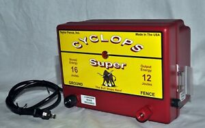 Cyclops Super 12 Joule 200 Acre Ac Powered Electric Fence Charger Energizer