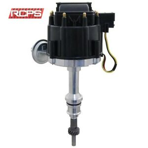 Black Cap Hei Distributor For Ford V8 302 5 0l Efi To Carb Conversion Long Shaft