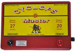 Cyclops Master 20 Joule 200 Acre Ac Powered Electric Fence Charger Energizer