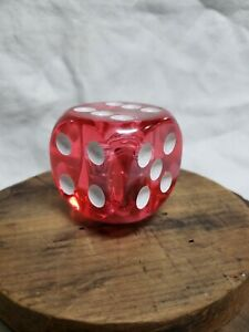 Vintage Gear Shift Knob Dice Hot Rat Rod Manual Shifter Lever Clear Red
