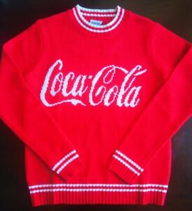 Coca Cola Knit Sweater Red with White Logo Unisex Size Medium Brand New