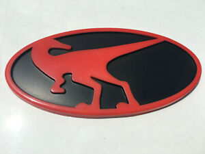 Raptor Rear Emblem For Hyundai Veloster Veloster Turbo 2012 2017 Red