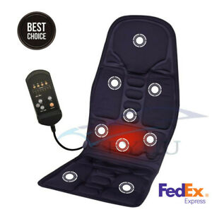 3 Speed Heated Comfortable Massage Cushion Seat Cover Pad Mat For Travel Work