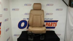 12 Ford F250 Super Duty Front Right Passenger Power Seat Tan Leather