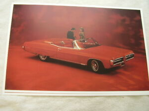 1967 Pontiac Grand Prix Convertible Color 11 X 17 Photo Picture