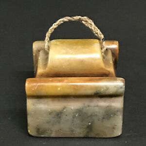 Chinese Art Carved Soapstone Seal Stamp