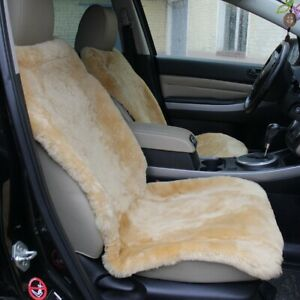 Two Car Seat Covers 100 Genuine Siberian Sheepskin 43 20 Inches Long Wool