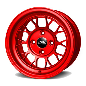 Drag Racing Abr Wheels 13x8 For Honda Civic Crx Acura Integra Miata Red