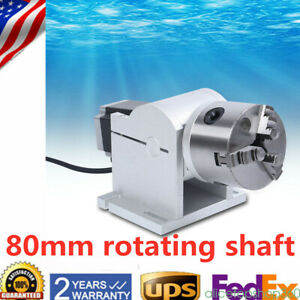 Rotary Axis Shaft Chuck 80mm For Laser Marking Machine Rotating Fixture Usa