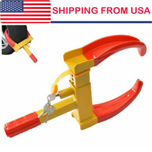 Wheel Lock Clamp Boot Tire Claw Car Truck Rv Trailer Anti Theft Towing Us Local