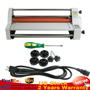 17 Auto Single dual Sided Laminator Hot Cold Roll Laminating Machine 700w