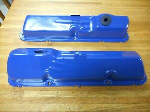 1965 1966 1967 Ford 352 390 428 Valve Covers Clean Oem Pair Mustang Thunderbird