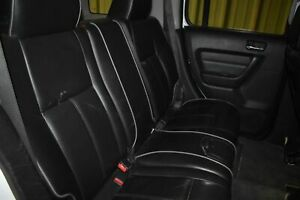 2007 Hummer H3 Rear Black Leather Bench Seat