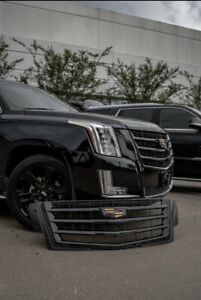 Cadillac Escalade Grille Grill Hood Trim Black Color Oem 2015i 2020 Black Out