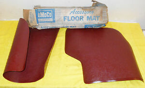 1965 1966 67 Ford Galaxie Fairlane Falcon Nos Red Accessory Twin Rear Floor Mats