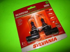 2 New Sylvania Silverstar Ultra 9006 Headlight Bulbs