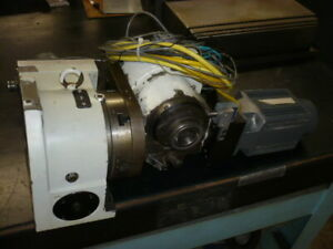 Yuasa Cnc Tilting Rotary Table 4th Axis 5th Axis Fagor Fxm Servo Motors