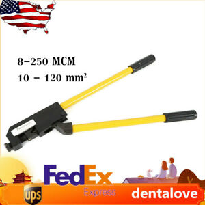 8 4 0 Awg Large Gauge Ring Terminal Crimper 23 In Wire Terminal Crimping Tool