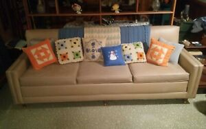 Funky Vintage Mid Century Sofa Couch Metalcraft Products Vinyl Pleather