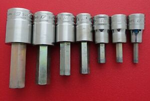 Snap On Tools Usa 1 2 Drive Hex Allen Sockets 19mm 17mm 14mm 12mm 10mm 8mm 6mm