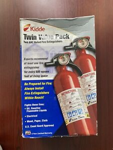 Kidde Twin Pack Fire Extinguisher Rated 1a10bc Free Shipping