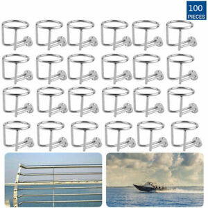 Lot 100x Stainless Steel Cup Drink Holder Marine Boat Car Camper Universal Tn